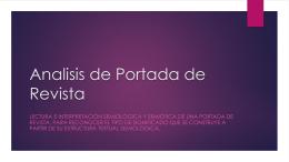 Analisis de Portada de Revista