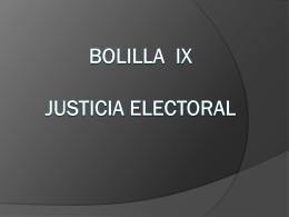 ix justicia electoral