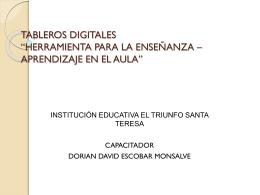tableros digitales *herramienta para la enseñanza