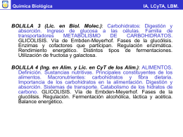 Química Biológica IA, LCyTA, LBM.