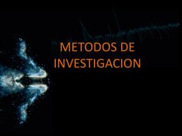 METODOS DE INVESTIGACION CIENTIFICA