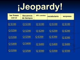 Jeopardy - Sr. Fisk