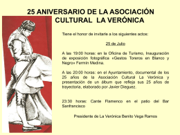 25 aniversario asociacion cultural la veronica.