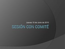 Sesión con comité - CIIDET-MES-SEMINARIOS