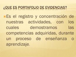 ¿Que es portafolio de evidencias?