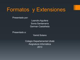 Formatos y Extensiones (494848)