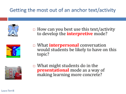 Authentic Text in 3 modes Primacy-Recency