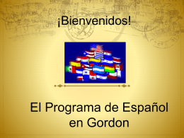 Modern Language at Gordon - La clase de Señora Kelly