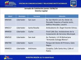 Jornada de cedulación jueves 19-06-2014