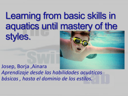 Learning from basic skills in aquatics until mastery