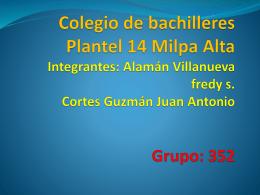 Colegio de bachilleres Plantel 14 Milpa alta Integrante