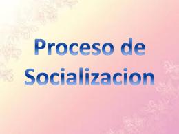 Concepto del Proceso de Socializacion