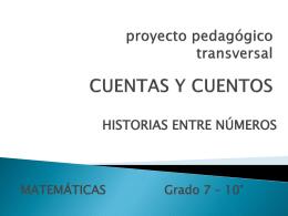 proyecto pedagógico transversal CUENTAS Y CUENTOS