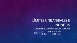 Límites unilaterales e infinitos