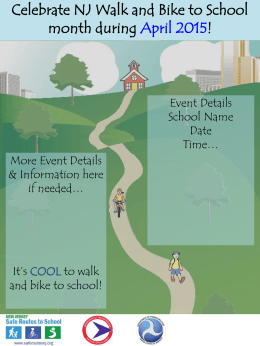 Celebrate NJ Walk and Bike to School month during April 2015!