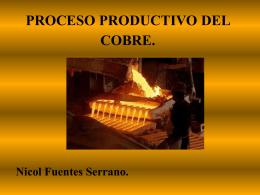 PROCESO PRODUCTIVO DEL COBRE.