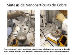 Síntesis de Nanopartículas de Cobre