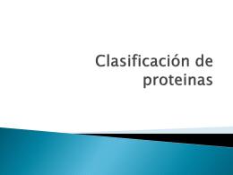 Clasificación de proteinas