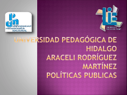 Universidad pedagógica de hidalgo Araceli Rodríguez Martínez