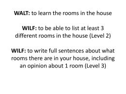 WALT: WILF: