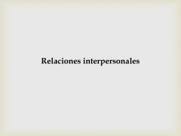 apertura de relaciones interpersonales