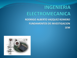 ingenieria electromecanica rodrigo alberto vazquez romero