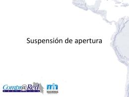 Suspensión de apertura - Ministerio de Hacienda
