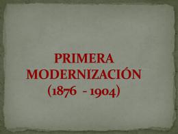 PRIMERA MODERNIZACIÓN