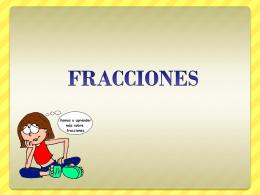 FRACCIONES - TramixSakai ULP