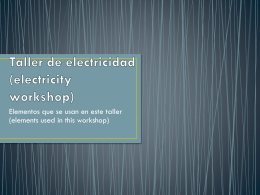 Taller de electricidad (electrical workshop) 1° 4ta