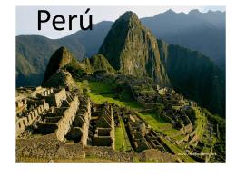 Perú - Fairfield Public Schools
