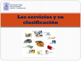 Los servicios y su clasificación - tecnologia