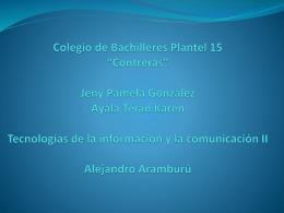 Colegio de Bachilleres Plantel 15 *Contreras* Jeny