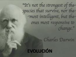 TEMA 7. EVOLUCIÓN - Sciencia