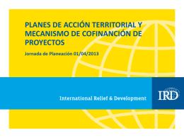 Obj 1 PAT y Mecanismo de Cofinanciación de Proyectos Abr13