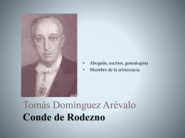 Tomás Domínguez Arévalo Conde de Rodezno