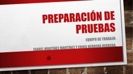 2.3 Preparación de pruebas