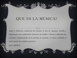Que es la música?