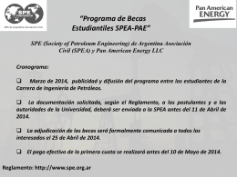 SPEA_PAE_BECAS_2014 - Society of Petroleum Engineers