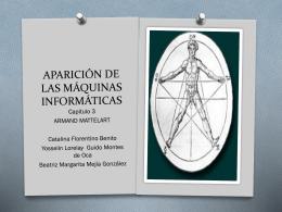 LA APARICIÓN DE LAS MÁQUINAS INFORMATICAS