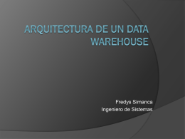 Arquitectura de un Data Warehouse