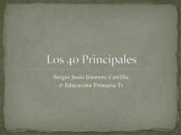 Los 40 Principales - El Blog de Sergio Jiménez