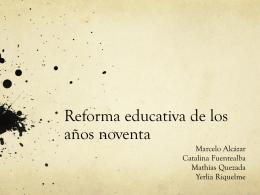 Reforma educativa de los años noventa