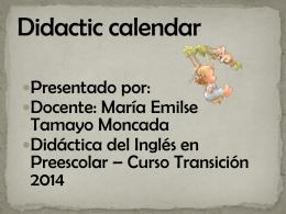 didactic calendar - Didáctica del Inglés en Educación Infantil (1)