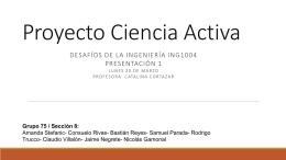 Proyecto Ciencia Activa