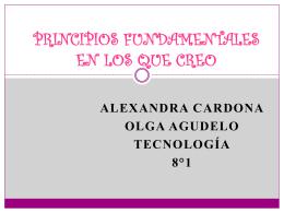 PRINCIPIOS FUNDAMENTALES EN LOS QUE CREO
