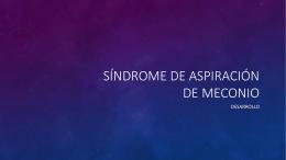 Síndrome de aspiración de meconio