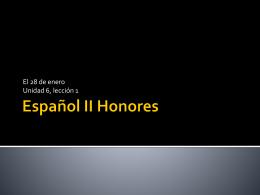 Español II Honores