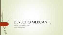 DERECHO MERCANTIL - laempresaysupersonalidad