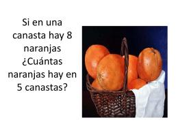 Si en una canasta hay 8 naranjas ¿Cuántas